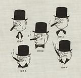 The changing moods of British Prime Minister Winston Churchill as the Second World War progressed, 1940–1944