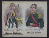Popular illustration celebrating the wedding of Queen Victoria and Prince Albert