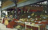 Fruit stall at Blackpool market, Lancashire