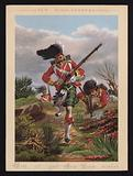 British Army soldiers of the 92nd Highlanders, New Year greetings card