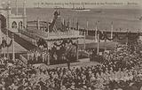 Sir Pherozeshah Mehta, President of the Bombay Municipality, reading the address of welcome to King George V and Queen …