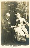English theatre actors, Sir Henry Irving and Ellen Terry in The Vicar of Wakefield