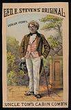 Deacon Perry, a character from Uncle Tom's Cabin by Harriet Beecher Stowe, George E Steven's Original, advertisement