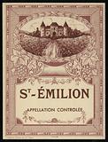 St Emilion, wine label