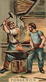 Blacksmiths at work in the forge
