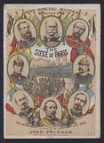 The Siege of Paris, sheet music cover for a piece inspired by the siege during the Franco-Prussian War of 1870–1871