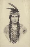 Portrait of a woman in Native American costume