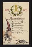 New Year banquets held by the occupying Germans in Villiers and Champigny, Paris, 30 December 1870 and 2 January 1871