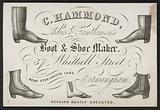 Trade card for C Hammond, boot and shoe maker, Birmingham