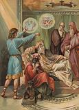 Joseph interpreting Pharaoh's dream of seven years of famine