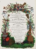 Menu of a banquet held to celebrate the inauguration of the Society of the Circle of Commerce and Industry, Bruges, …