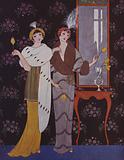 Art Deco fashion plate