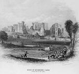 Ruins of Kenilworth Castle, and the bed of the Lake
