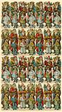 Santa Claus with children, sheet of figures