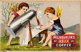 Putti pouring coffee