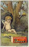 Bee attacking putto
