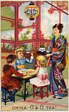 Children at Japanese tea ceremony