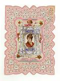 Victorian Lady on card
