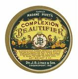 Madame Pivet's Complexion Beautifier, label