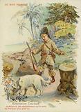 Robinson Crusoe with dog