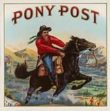 Pony Post - Cigar Label