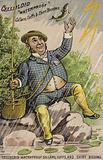 Man Fishing in Storm