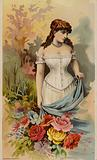 Lady Wearing Corset