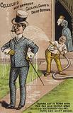 Gentleman in Suit being Hosed Down