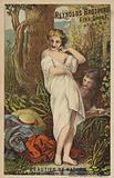 Woman Undressing In Woods