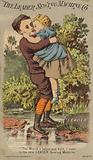 Boy Carrying Girl Over River