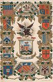 Coats of arms of various cities of the world