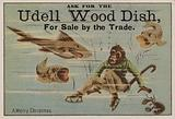 A merry Christmas, trade card advertising Udell wood dishes