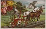 American trade card advertising the Moline Plow Company, Illinois, c1880s