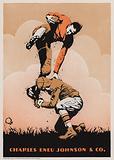 American football players, advertisement for Charles Eneu Johnson & Co, 1930