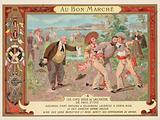Scene from the novel Les Cinq Sous de Lavarede, by Paul Ivoi