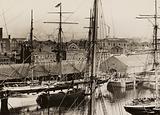 Shaw Savill's Wellington, loading in Salthouse Dock, Liverpool, 1897
