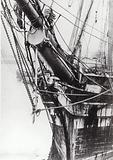 Figurehead and bows of Cutty Sark