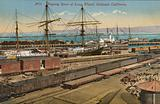 Shipping scene, Long Wharf, Oakland, California
