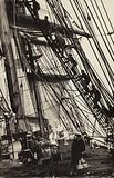 Climbing the rigging on board the Herzogin Cecilie