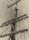 Naval cadets in the rigging of the German Navy sailing training ship Horst Wessel, late 1930s