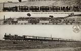 A Train in 1837 of First Class Carriages with the Mail; A Train in 1837 for Second Class Outside …