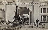 Entrance to Locomotive Engine House Camden Town, 1838