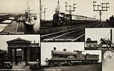 Landing Stage, Liverpool; American Vestibule Express; Locomotive, 1829; Euston Station, London; Locomotive, 1904