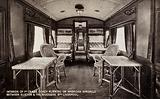 Interior of 1st Class Coach running on American Specials between Euston and The Riverside Stn Liverpool