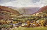 The Seven Churches, Glendalough, Co Wicklow, via Holyhead and Kingstown, the Royal Mail Route