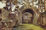 Ruins of St Saviour's Monastery, Glendalough, Co Wicklow, via Holyhead and Kingstown, the Royal Mail Route