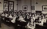 Girls in school classroom