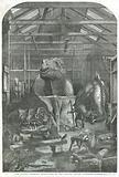 The Extinct Animals model room, at the Crystal Palace, Sydenham