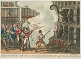 Destruction of the furious elephant at Exeter Change, 1826