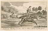 Thomas Johnson standing on one, two and three horses in full speed